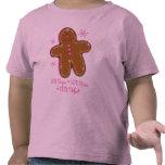 Camiseta del niño del pan de jengibre del azúcar y