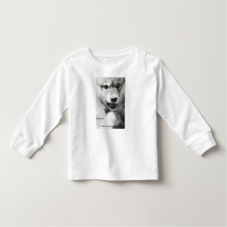 Camiseta del niño del perrito de lobo