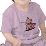Camiseta del niño del perro del mojón de los E.E.U