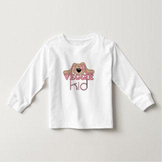 Camiseta del niño del perro del niño del Veggie Playeras