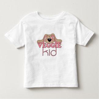 Camiseta del niño del perro del niño del Veggie Remeras