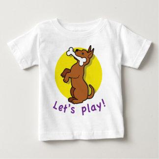 camiseta del niño del perro