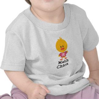 Camiseta del niño del polluelo de la matemáticas