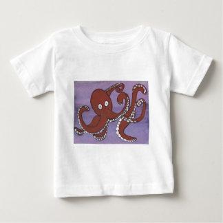 Camiseta del niño del pulpo remera