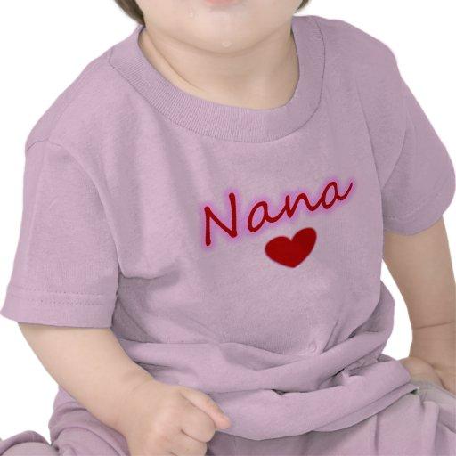 Camiseta del niño del resplandor del corazón de Na