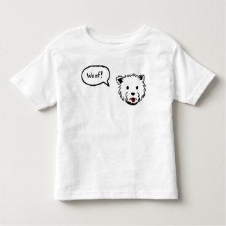 Camiseta del niño del tejido de Westie