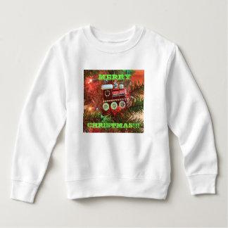 Camiseta del niño del tren de las Felices Navidad