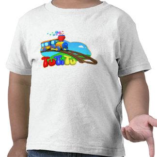 Camiseta del niño del tren de TuTiTu