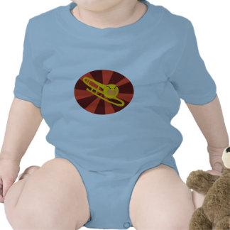 Camiseta del niño del Trombone que rabia