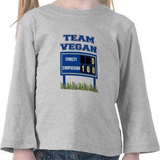 Camiseta del niño del vegano del equipo