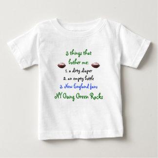Camiseta del niño del verde de la cuadrilla de NY Playera