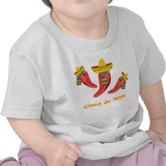 Camiseta del niño. Pimientas de chiles, Cinco de M