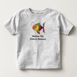 Camiseta del niño y del bebé de los pescados de playeras