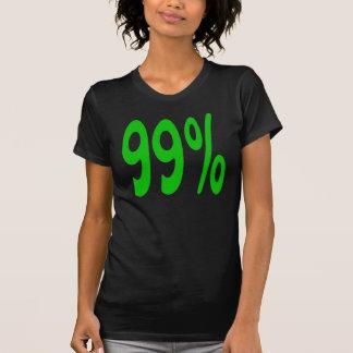 Camiseta del noventa y nueve por ciento polera