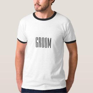 Camiseta del novio playeras