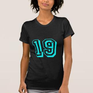 Camiseta del número 19 de la aguamarina playeras