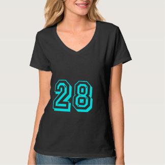 Camiseta del número 28 de la aguamarina playera