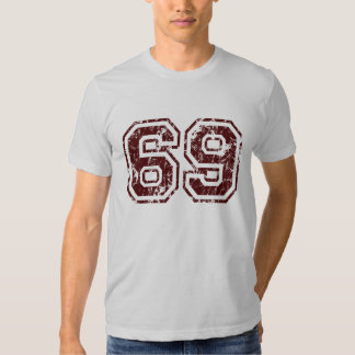 Camiseta del número 69 polera