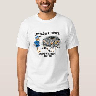Camiseta del oficial de correcciones poleras