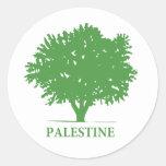 Camiseta del olivo de Palestina Pegatina Redonda