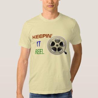 Camiseta del operador de cámara del rollo de playeras