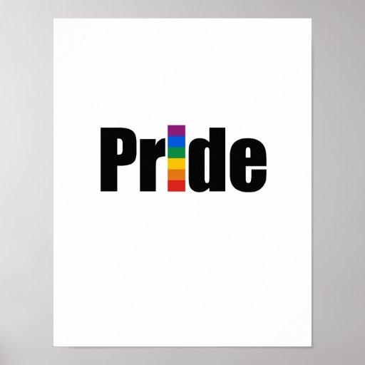 Camiseta del orgullo gay póster