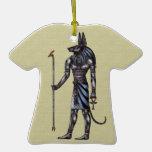 Camiseta del ornamento de Anubis Adornos De Navidad