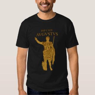 Camiseta del oro de la estatua de Augustus Playera
