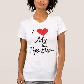 Camiseta del oso de la papá