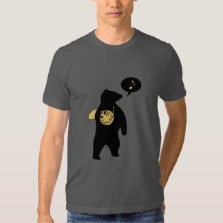 Camiseta del oso de la trompa playera