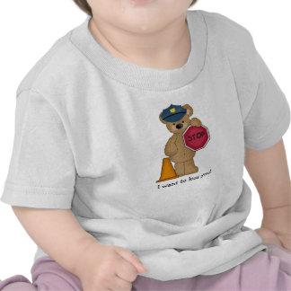 Camiseta del oso de peluche del policía