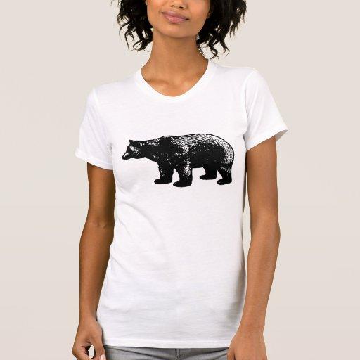Camiseta del oso del vintage