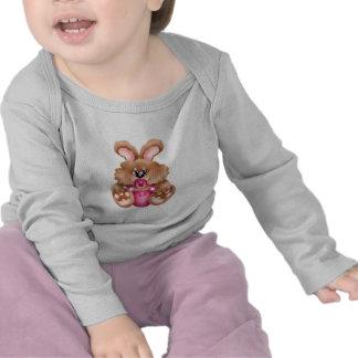 Camiseta del pacificador del conejito del bebé