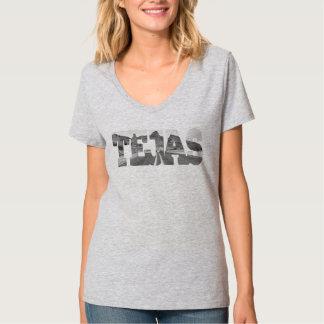 Camiseta del paisaje de Tejas Tejas Remera
