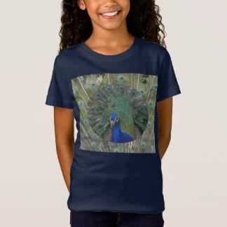 Camiseta del pájaro del jersey del pavo real