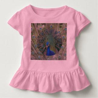 Camiseta del pájaro del volante del pavo real remeras