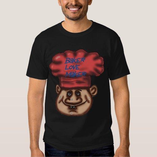 camiseta del panadero del fabricante del amor poleras