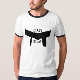 Camiseta del papá de la correa negra TKD de los