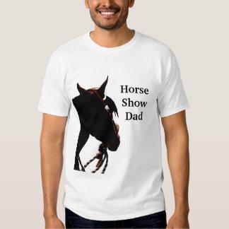 Camiseta del papá de la demostración del caballo polera