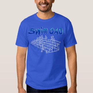 Camiseta del papá de la nadada de la vida de la remeras