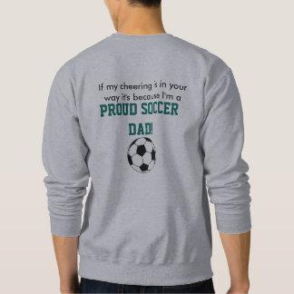 Camiseta del papá del fútbol sudadera