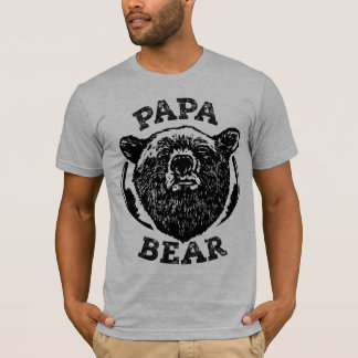"""Camiseta del papá del oso negro del estilo del Playera"