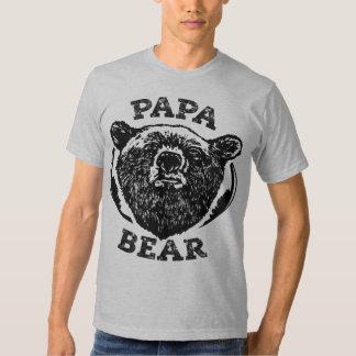"""""""Camiseta del papá del oso negro del estilo del Playeras"""