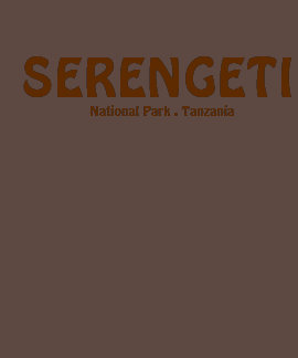 Camiseta del parque nacional de Serengeti