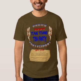 Camiseta del participante de la fiesta del té de playeras