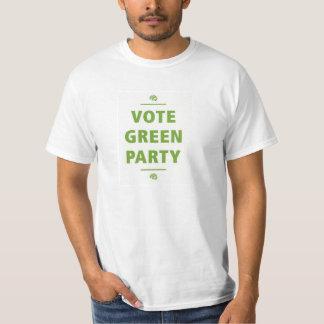 Camiseta del Partido Verde del voto Polera