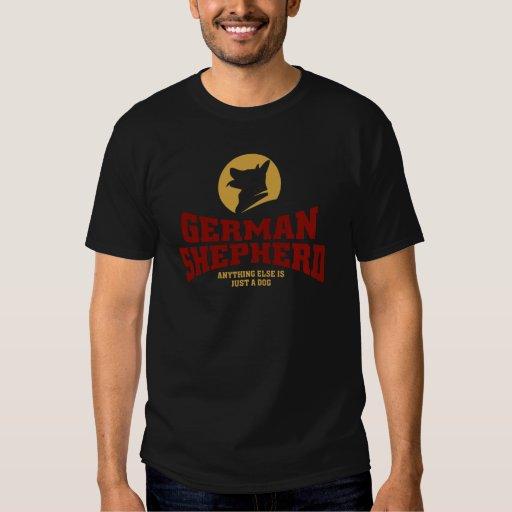 Camiseta del pastor alemán poleras