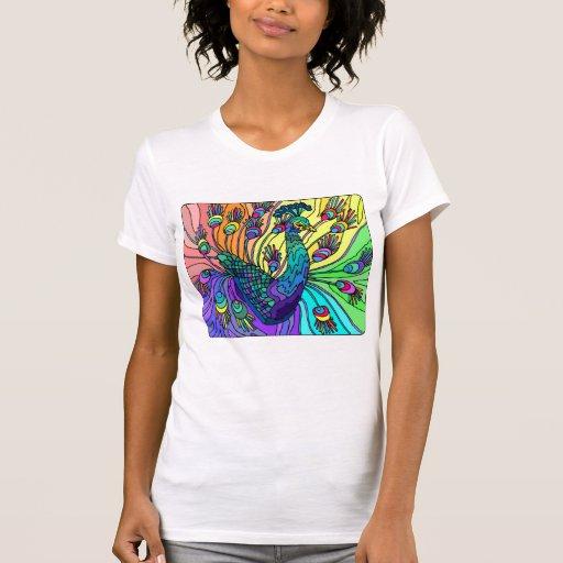 Camiseta del pavo real