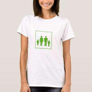 Camiseta del pegatina de la familia - motorista