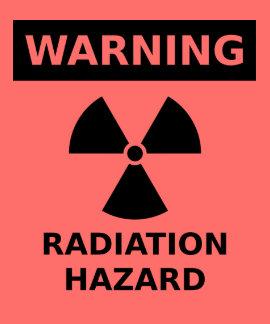 Camiseta del peligro de radiación